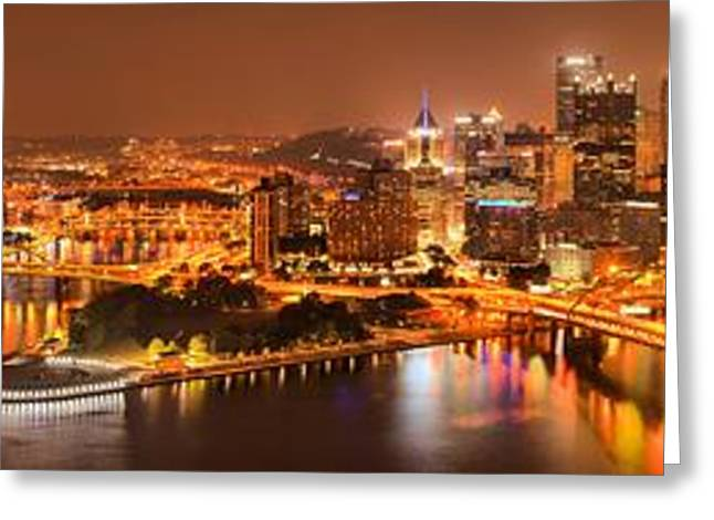 Incline Greeting Cards - Pittsburghs Famous Skyline Greeting Card by Adam Jewell