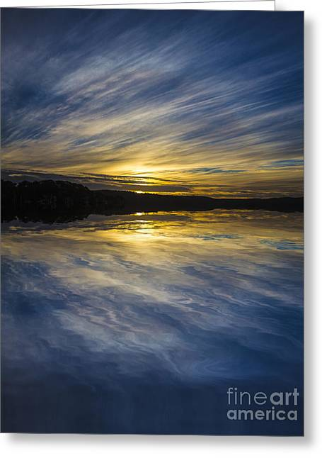 Sunset Abstract Greeting Cards - Pittwater sunset abstract Greeting Card by Sheila Smart