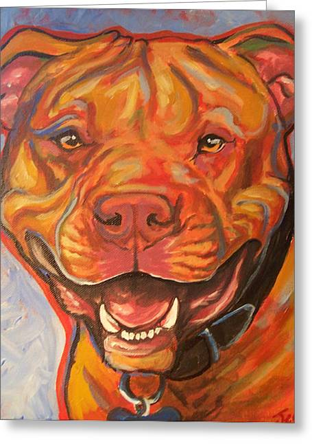 Pitty Smile Greeting Card by Jenn Cunningham