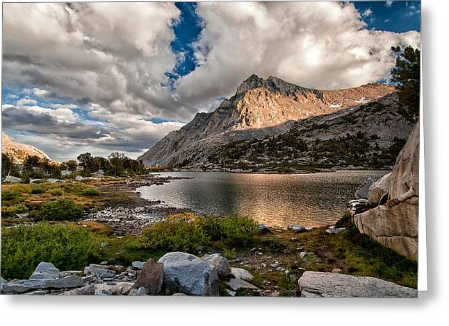 Hiking Greeting Cards - Piute Lake Greeting Card by Cat Connor