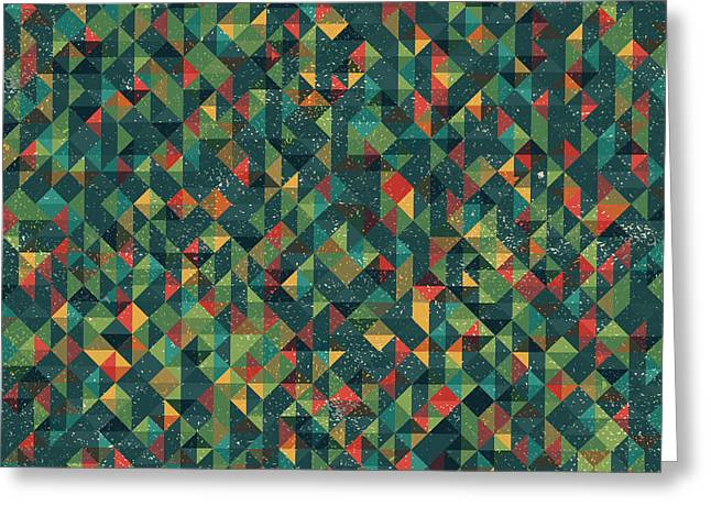 Geometric Artwork Greeting Cards - Pixel Greeting Card by Mike Taylor