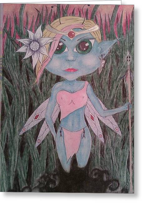 Princess Pastels Greeting Cards - Pixi Princess Greeting Card by Justin Griffor