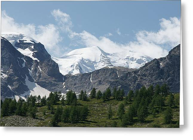 Graubunden Greeting Cards - Piz Cambrena Greeting Card by Christian Zesewitz