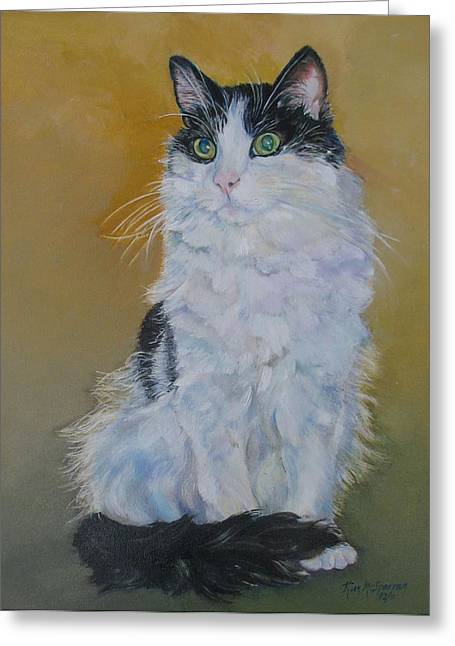 Cat Breeds Portraits Greeting Cards - Pizer Greeting Card by Kimberly McSparran