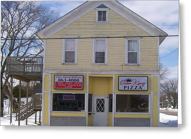 Pizza House Greeting Card by Jonathon Hansen