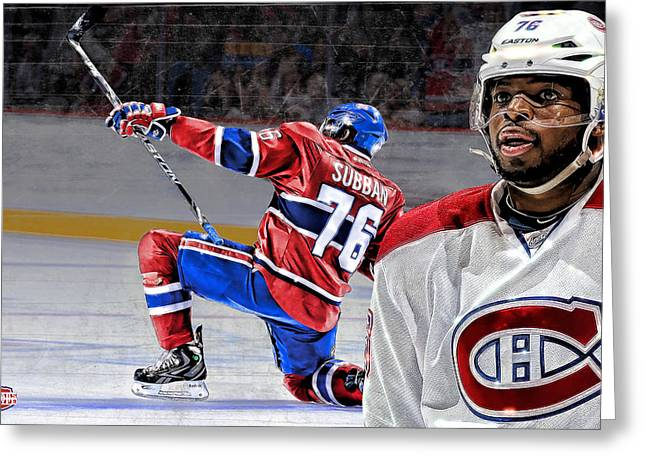 Pk Greeting Cards - PK Subban Greeting Card by Nicholas Legault