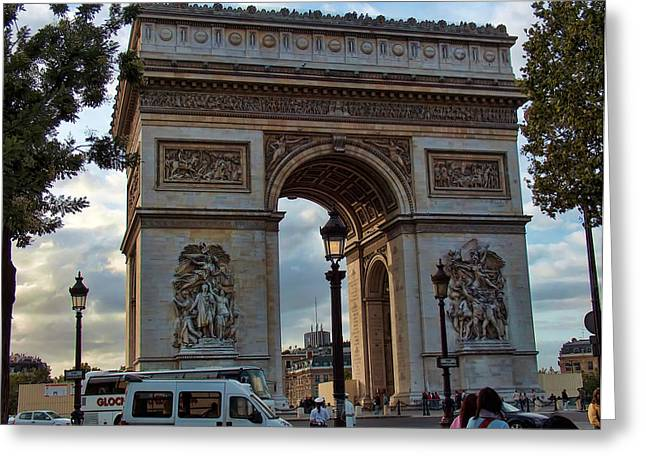 Greeting Cards - Place Charles de Gaulle  Greeting Card by Paris  France