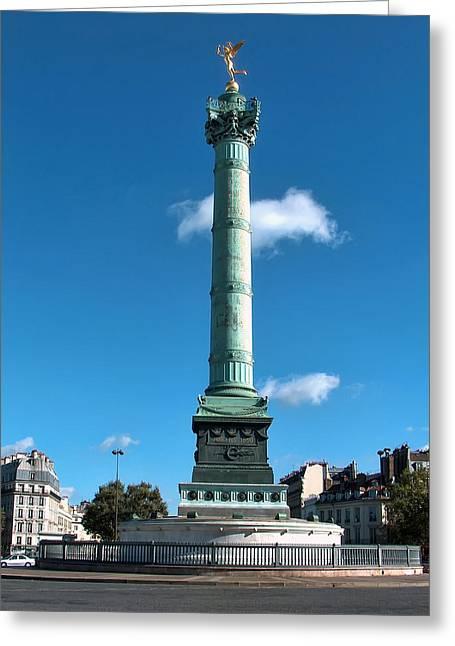 Liberte Greeting Cards - Place de la Bastille Greeting Card by Paris France
