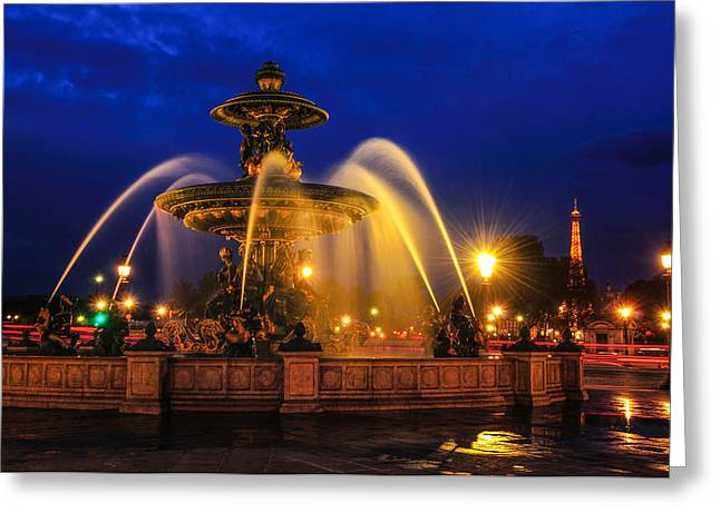 Ras Greeting Cards - Place De La Concorde Greeting Card by Midori Chan