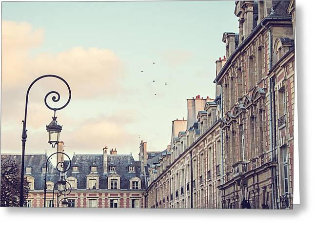 Place Des Vosges In Paris France Greeting Card by Melanie Alexandra Price