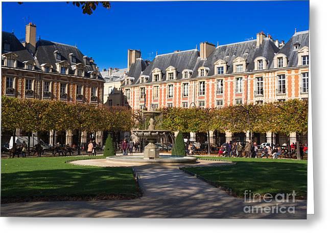 Place Des Vosges Paris Greeting Card by Louise Heusinkveld