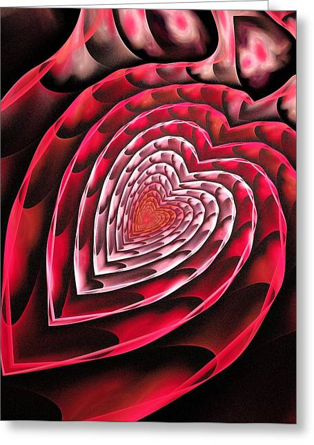 Your Home Mixed Media Greeting Cards - Place in Your Heart Greeting Card by Anastasiya Malakhova