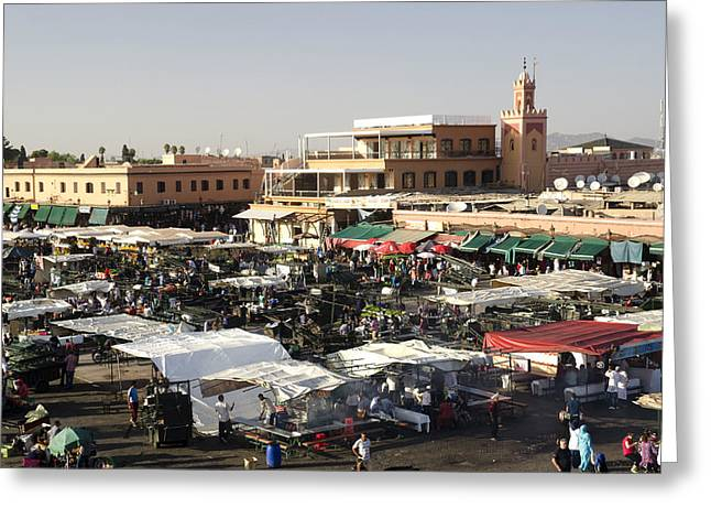 Local Food Places Greeting Cards - Place Jemaa El Fna Marrakech  Greeting Card by Martin Turzak