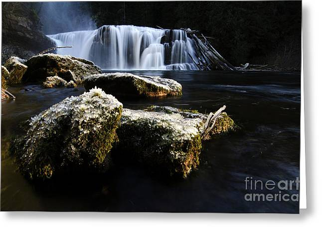 Stream Greeting Cards - Place Of Awe Lower Lewis Falls Washington 1 Greeting Card by Bob Christopher