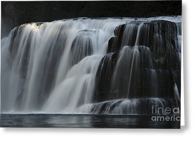 Greeting Cards - Place Of Awe Lower Lewis Falls Washington 2 Greeting Card by Bob Christopher