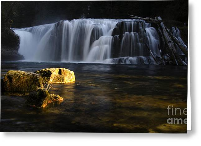 Beautiful Creek Greeting Cards - Place Of Awe Lower Lewis Falls Washington 3 Greeting Card by Bob Christopher