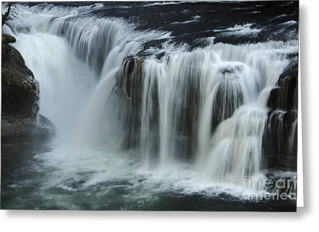 Stream Greeting Cards - Place Of Awe Lower Lewis Falls Washington 5 Greeting Card by Bob Christopher