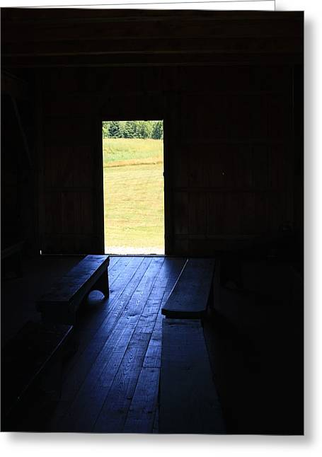 Barn Door Greeting Cards - Place of Contemplation Greeting Card by Marcia Lee Jones