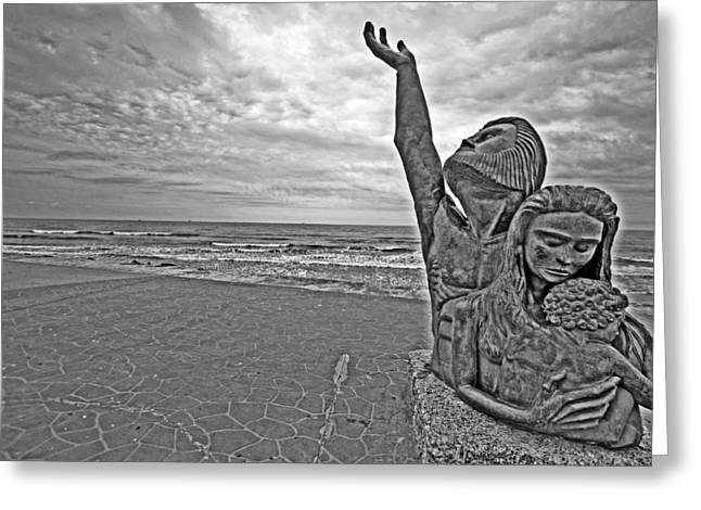 Place Of Rememberance Black And White Greeting Card by Ty Helbach