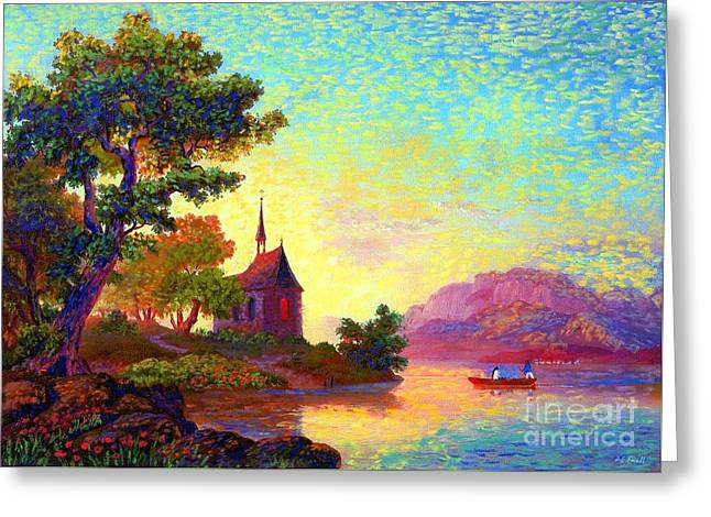 Church Greeting Cards - Place of Welcome Greeting Card by Jane Small