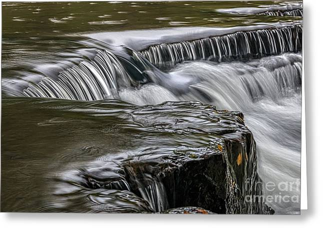 Natural Dam Arkansas Greeting Cards - Place to Reflect Greeting Card by Larry McMahon
