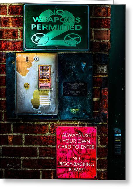 Grunge Greeting Cards - Place Without Windows Greeting Card by Bob Orsillo