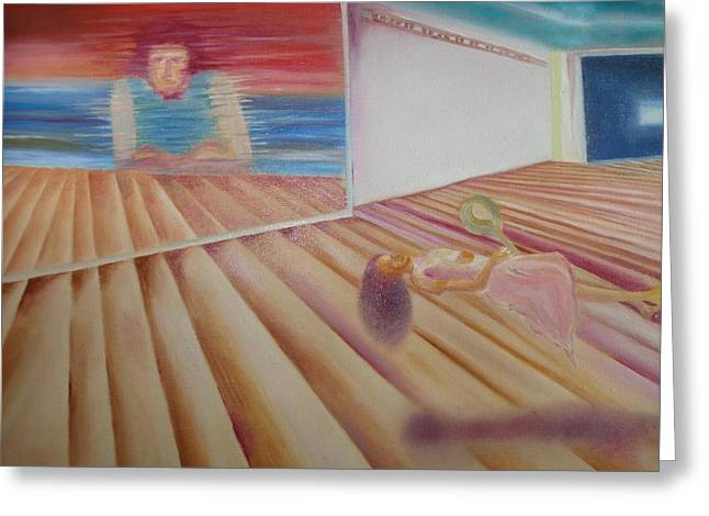Sea Platform Paintings Greeting Cards - Places and Spaces Greeting Card by Prasenjit Dhar