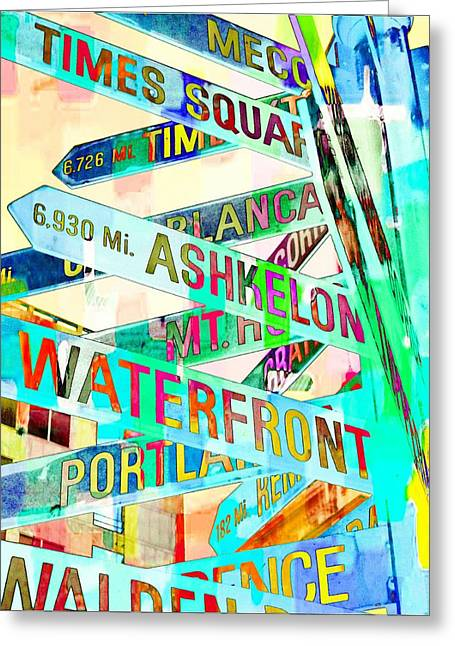 Downtown Portland Greeting Cards - Places in Color Greeting Card by Cathie Tyler