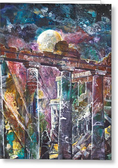 Patricia Mixed Media Greeting Cards - Places of Power Timeless Greeting Card by Patricia Allingham Carlson