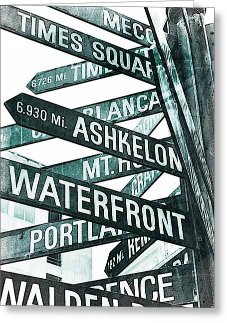 Downtown Portland Greeting Cards - Places to see Greeting Card by Cathie Tyler