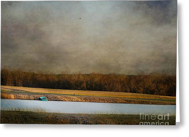 Boats On Water Greeting Cards - Placid Moment Greeting Card by Jai Johnson