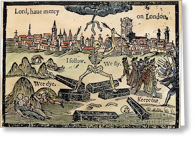 Plague Of London, 1665 Greeting Card by Granger