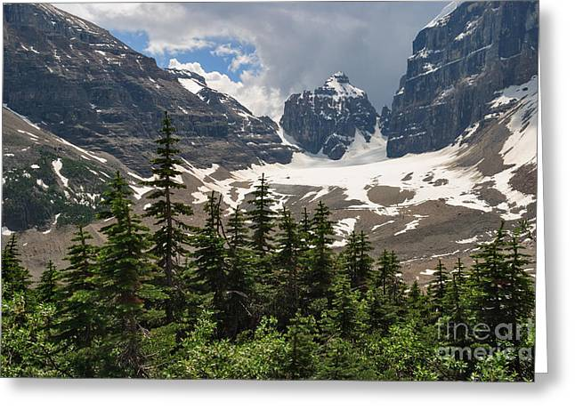 Whytes Lake Greeting Cards - Plain of Six Glaciers Greeting Card by Charles Kozierok