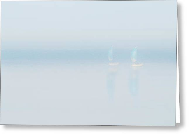 Whitby Greeting Cards - Plain Sailing Greeting Card by Janet Burdon