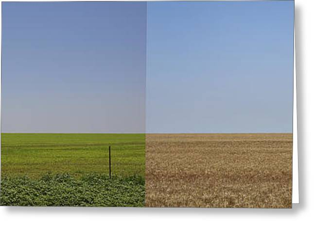 Oklahoma Landscape Greeting Cards - Plains Greeting Card by Skip Hunt