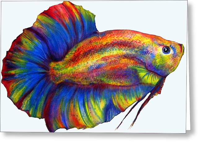 Betta Paintings Greeting Cards - Plakat Greeting Card by Summer Blackhorse