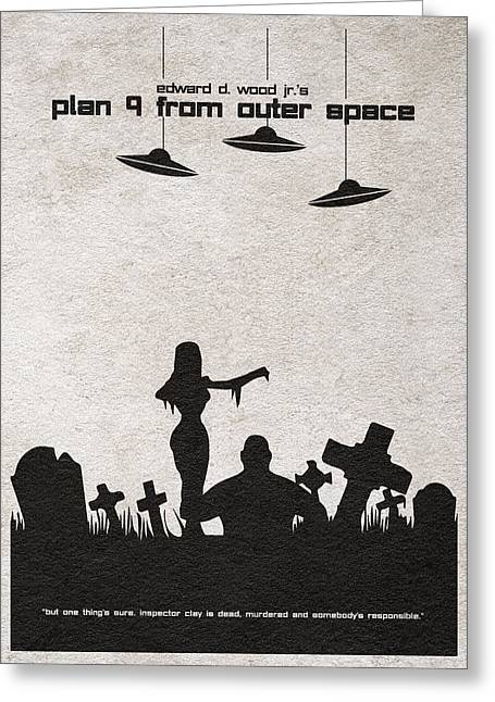 Gift Pastels Greeting Cards - Plan 9 from Outer Space Greeting Card by Ayse Deniz