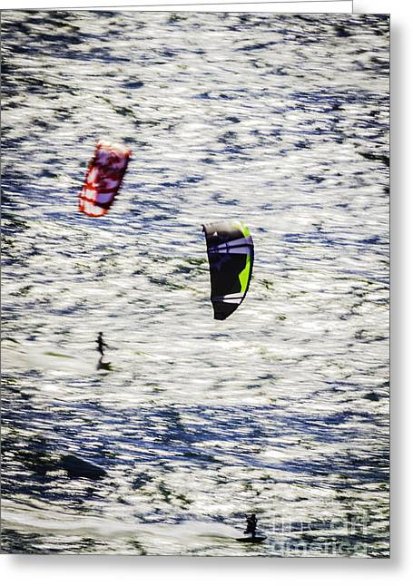 Kite Boarding Greeting Cards - Planar Motion Greeting Card by Mitch Shindelbower