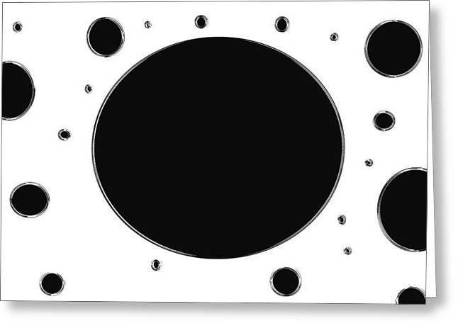 Planck Greeting Cards - Planck Constant Holes Reverse Greeting Card by Sir Josef  Putsche