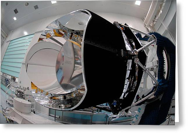 Planck Space Observatory Before Launch Greeting Card by Science Source