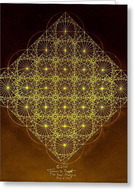Fractal Greeting Cards - Planck Space Time  Greeting Card by Jason Padgett