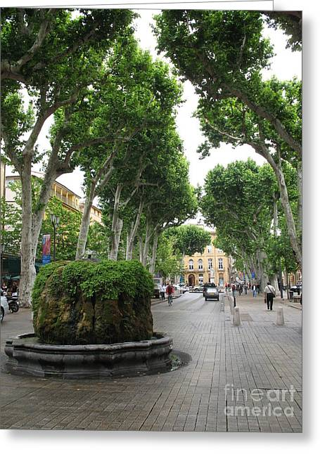 Christiane Schulze Greeting Cards - Plane Alley - Aix en Provence Greeting Card by Christiane Schulze Art And Photography