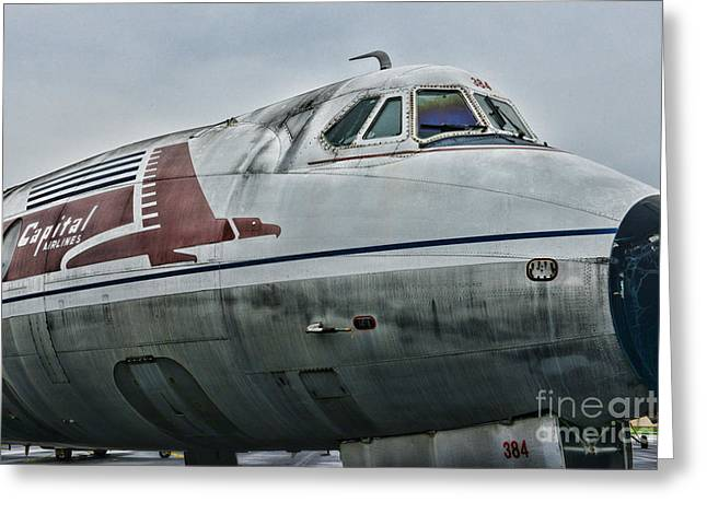 Passenger Planes Greeting Cards - Plane Capital Airlines Greeting Card by Paul Ward