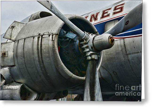 Plane Check Your Engine Greeting Card by Paul Ward