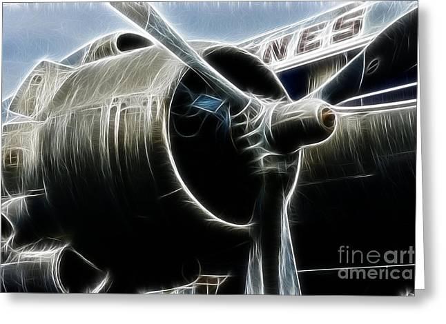Fractalius Art Greeting Cards - Plane Fantasy plane gray  Greeting Card by Paul Ward