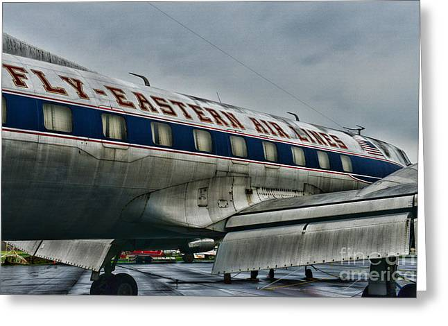 First Class Greeting Cards - Plane Fly Eastern Air Lines Greeting Card by Paul Ward