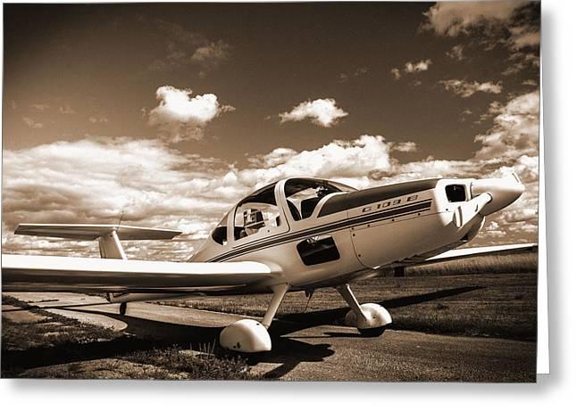 Plane Pyrography Greeting Cards - Plane Greeting Card by Matthew  Sawicki