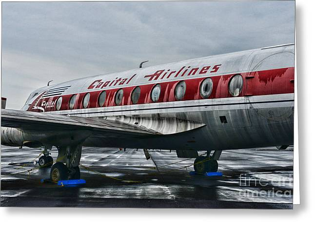 Passenger Planes Greeting Cards - Plane Obsolete Capital Airlines Greeting Card by Paul Ward