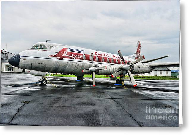 Passenger Planes Greeting Cards - Plane Props on Capital Airlines Greeting Card by Paul Ward