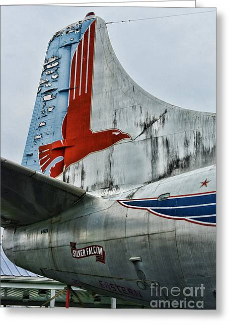 First Class Greeting Cards - Plane Tail Wing Eastern Air Lines Greeting Card by Paul Ward